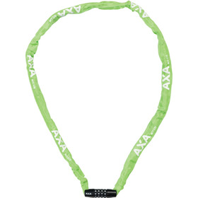 Axa Rigid Code Chain Lock 120cm, green